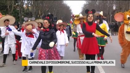 Carnevale di Fossombrone, grande successo per la prima sfilata – VIDEO