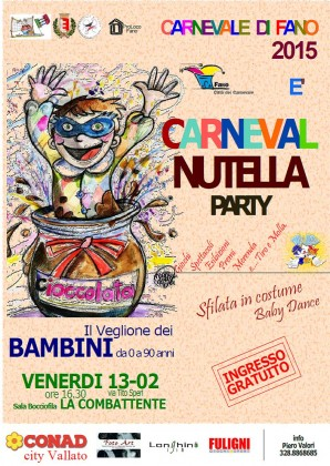 Carneval Nutella Party, domani nella Sala Bocciofila la Combattente – VIDEO