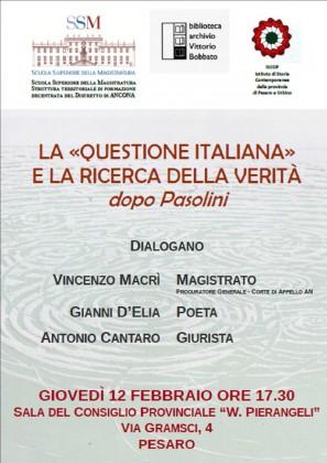 """Poesia, giurisprudenza e filosofia per discutere della """"questione italiana"""""""