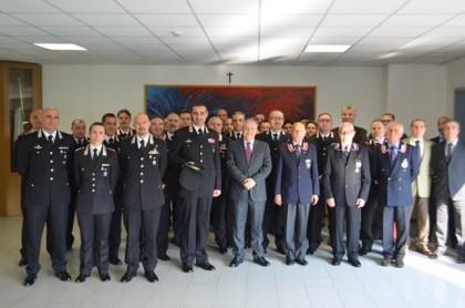 Visita del Prefetto Luigi Pizzi alla sede del Comando provinciale dei Carabinieri