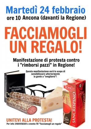 """""""Spese pazze in Regione"""", domani ore 10 ad Ancona manifestazione di protesta"""