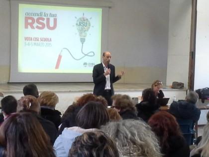 400 lavoratori della scuola in assemblea con la Cisl