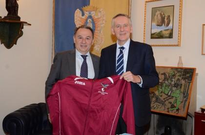 Alma, Gabellini incontra il Rettore dell'Università di Urbino Vilberto Stocchi