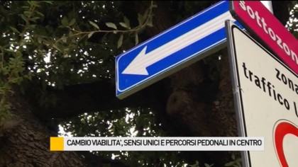 Cambio viabilità, sensi unici e percorsi pedonali in centro – VIDEO