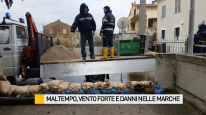 Maltempo, vento forte e danni nelle Marche – VIDEO