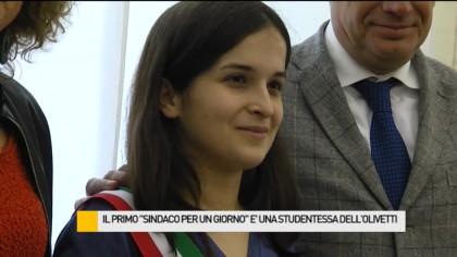 """Il primo """"Sindaco per un Giorno"""" è una studentessa dell'Istituto Olivetti – VIDEO"""