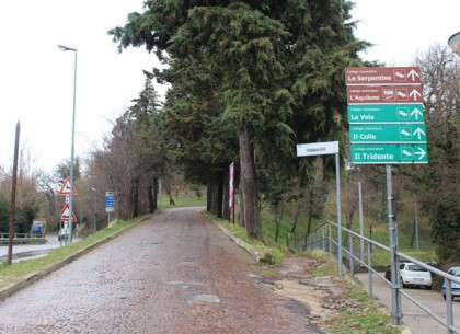 Il luogo dell'incidente a Urbino