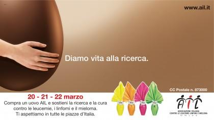 Le uova di Pasqua dell'AIL tornano in 4000 piazze italiane