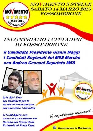 I candidati  del M5S Marche incontrano i cittadini. Presente anche il Deputato Cecconi