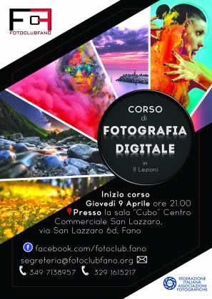 Corso di fotografia promosso da Fotoclub Fano