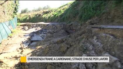 Emergenza frane a Carignano, strade chiuse per lavori – VIDEO