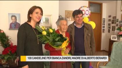 100 candeline per Bianca Zandri, madre di Alberto Berardi – VIDEO