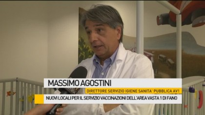 Nuovi locali per il Servizio Vaccinazioni dell'Area Vasta 1 di Fano – VIDEO