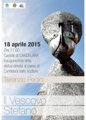 Candelara: inaugurazione della statua donata da Pedini