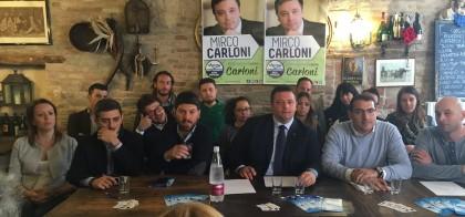 Mirco Carloni ha presentato la sua candidatura al consiglio regionale delle Marche