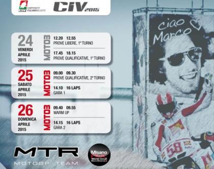 Moto 3, a Misano scatta la stagione 2015 del team mtr moto.gp team