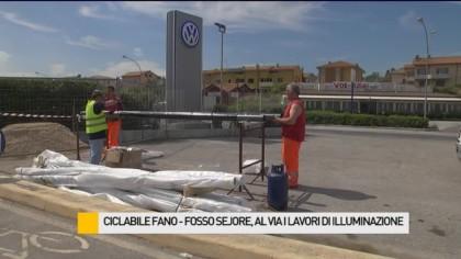 Al via i lavori di illuminazione della ciclabile Fano – Fosso Sejore – VIDEO