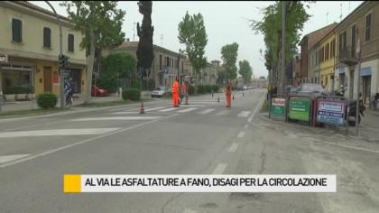 Al via le asfaltature a Fano, disagi per la circolazione – VIDEO
