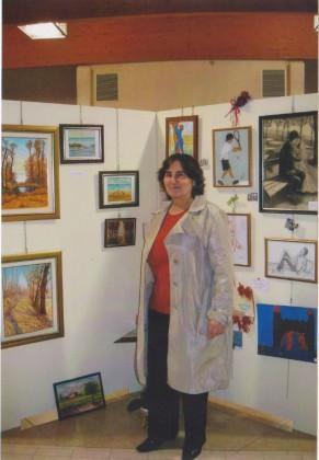 Ketty Perrone pittrice e  presidente dell'associazione
