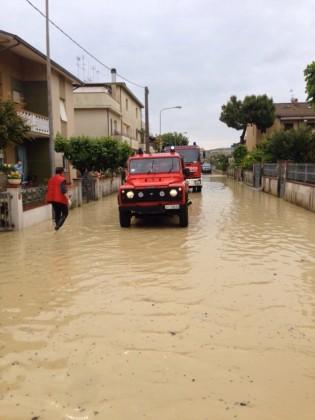 Interventi dei vigili del fuoco a Marotta