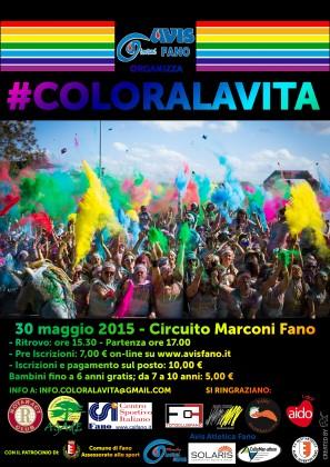 Aperte le iscrizioni per #COLORALAVITA, la corsa colorata di Avis Fano