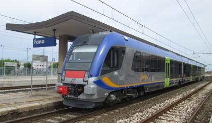 Un nuovo treno in prova da Ancona a Pesaro