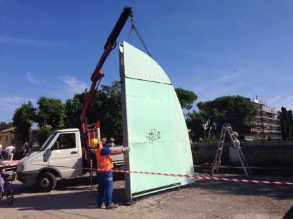 Iniziata la rimozione delle vele della Darsena Borghese – VIDEO