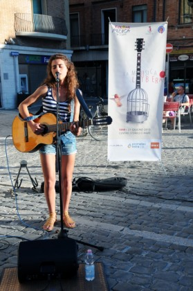 Chiara Magrini in piazza
