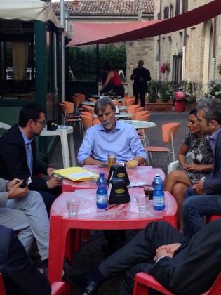 Delrio, Bertinotti e il vincitore di Masterchef a Passaggi Festival