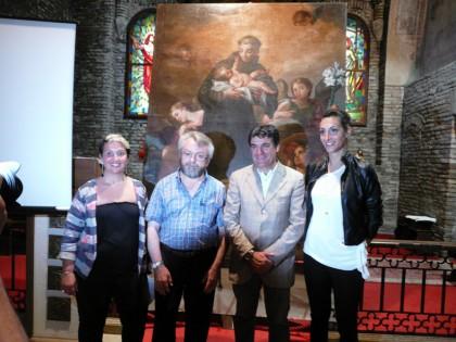 Presentato il restauro della tela d'altare di S. Maria al Ponte Metauro raffigurante S. Antonio da Padova