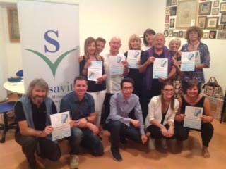 L'associazione Ies consegna gli attestati del corso di tablet al consiglio direttivo Avis