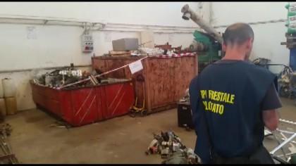 Sequestrati 10mila kg di rifiuti, due denunce – VIDEO