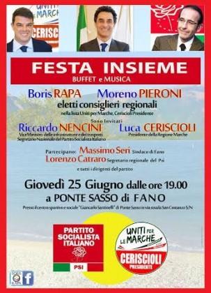 Uniti per le Marche festeggia l'elezione di Rapa e Pieroni in consiglio regionale
