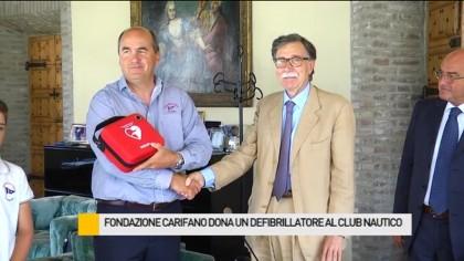 La Fondazione Carifano dona un defibrillatore al Club Nautico – VIDEO