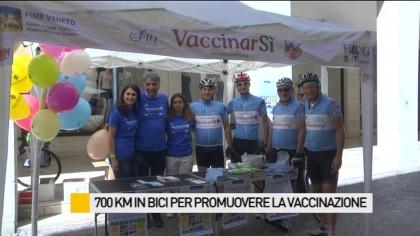 700km in bici per promuovere la vaccinazione – VIDEO