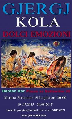 Inaugurazione della mostra personale del pittore Gjergj Kola