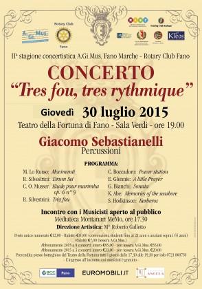 Giacomo Sebastianelli in concerto al Teatro della Fortuna