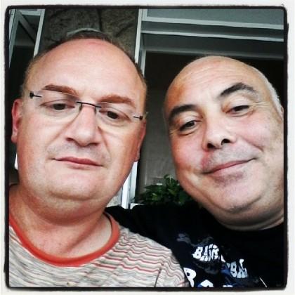 Da sinistra Marcello Sparaventi presidente di Centrale Fotografia e il fotografo Maurizio Leoni