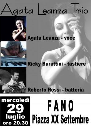 Agata Leanza Trio live in concerto mercoledì 29 in centro storico