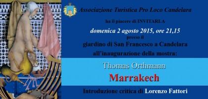 """Domenica 2 l'inaugurazione della mostra """"Marrakech: opere scelte"""""""