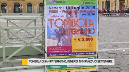 Tombola di San Paterniano, questa sera in Piazza XX Settembre – VIDEO