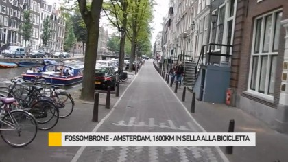 Impresa riuscita: Fossombrone – Amsterdam in sella alla bicicletta – VIDEO