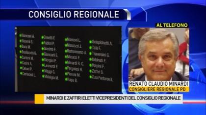 Minardi e Zaffiri eletti vicepresidenti del consiglio regionale – VIDEO