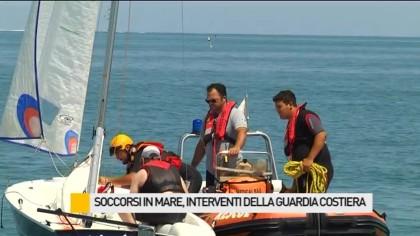Soccorsi in mare, interventi della Guardia Costiera – VIDEO