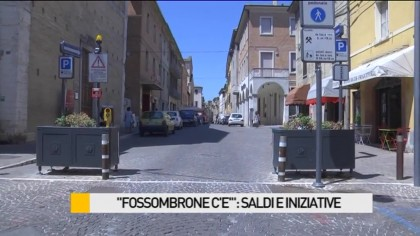 """Fossombrone c'è"": saldi e iniziative – VIDEO"