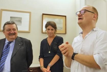 A destra Marcello Sparaventi al centro Alessia Venditti e poi Giuseppe Trincucci