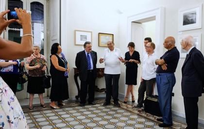 Inaugurazione a Lucera con al centro Riccardo Gambelli_ a sinistra Giuseppe Trincucci e a destra Alessia Venditti e Marcello Sparaventi