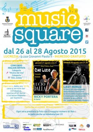 """""""Music Square"""" torna a regalare emozioni con musica dal vivo e disk jockey"""