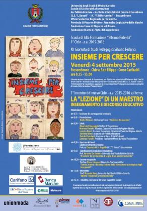 """12^ Giornata di Studi Pedagogici """"Silvano Federici"""" Scuola di Alta Formazione"""