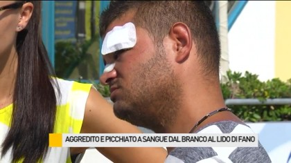 Aggredito e picchiato a sangue al Lido di Fano – VIDEO